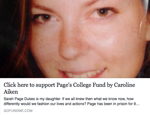 Click to Donate to Page's College Fund at GoFundMe