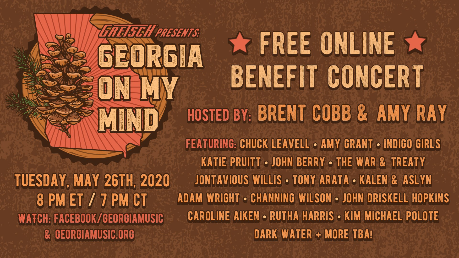 Georgia On My Mind benefit Concert poster